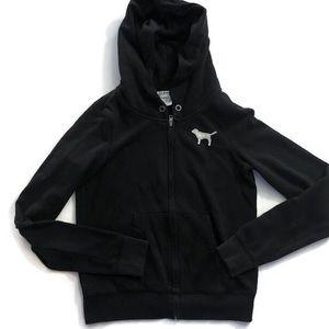PINK Victoria's Secret full zip hoodie size s
